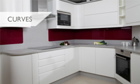 Kitchen with curved units
